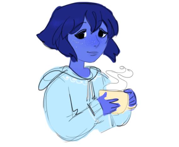 sweatshirts and hot chocolate