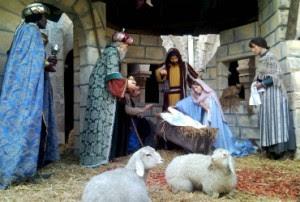 Presépio em exposição na Basílica da Natividade