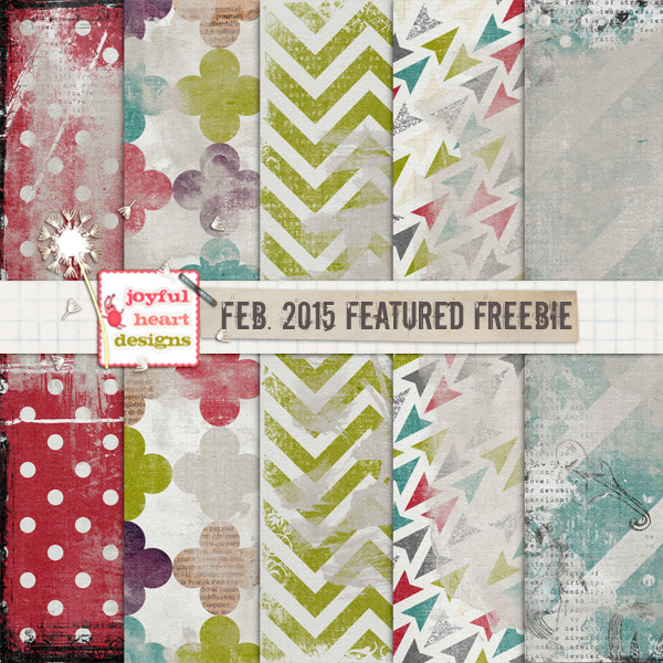 Featured Freebie from Feb. 2015 - ONE :) by JoyfulHeartDesigns