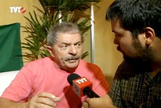 Lula em entrevista à TVT em novembro, quando festejou a expansão da emissora que ajudou a criar