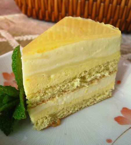 Artful Food: Mango Mousse Coconut Bavarian Cream Cake