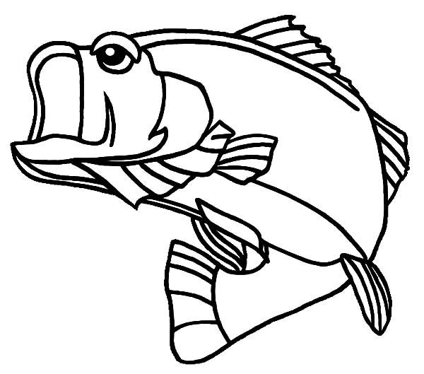 Georgia Largemouth Bass Fish Coloring Pages | Best Place ...