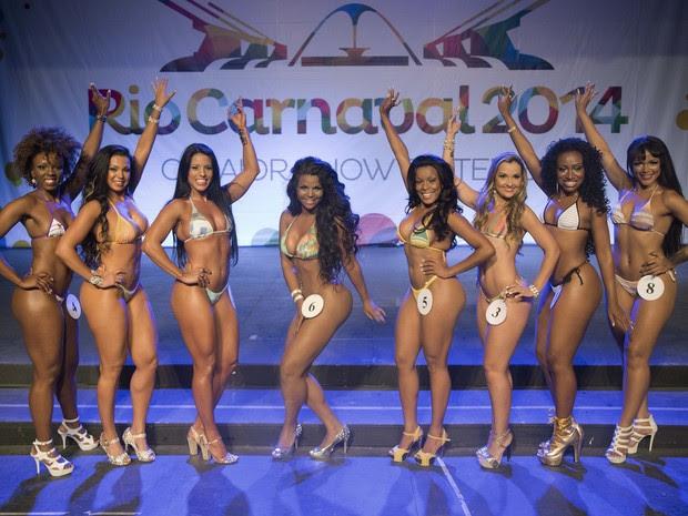 Eliminatória elege as candidatas a Rainha do Carnaval 2014. (Foto: Fernando Maia /  Riotur / Divulgação )