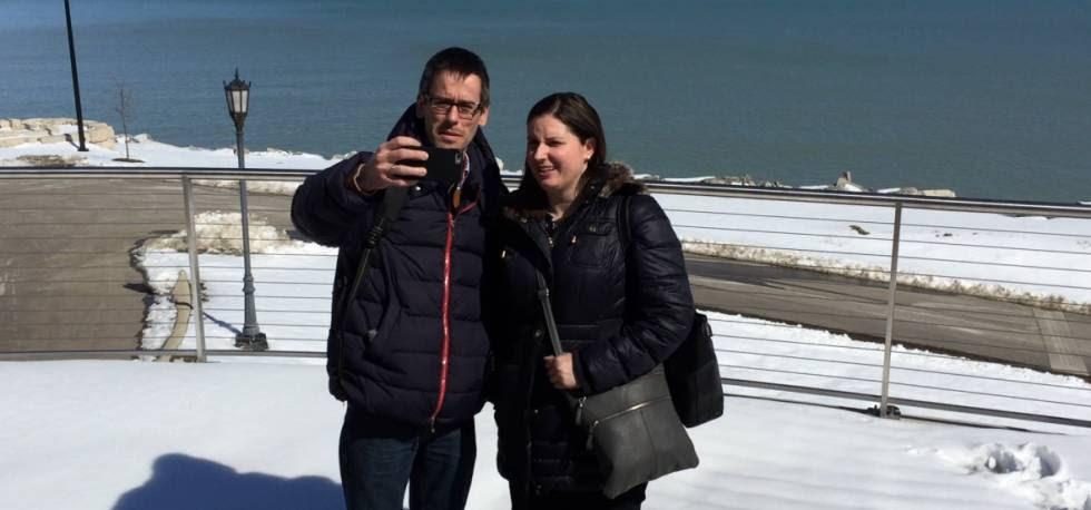 Álvaro García y Maribel Morales, el 16 de marzo en Kenosha (Wisconsin).
