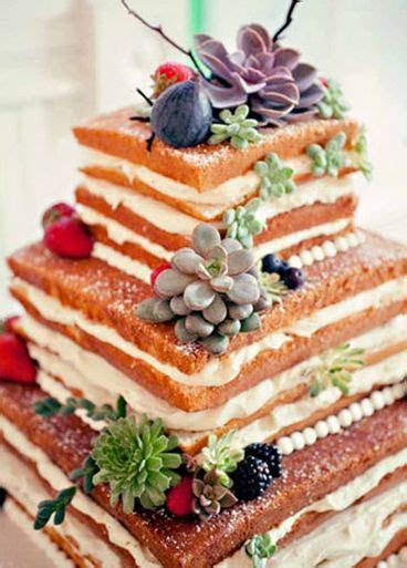 242 Best images about Naked Wedding Cake on Pinterest