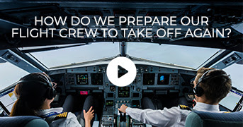 How do we prepare our flight crew to take off again?