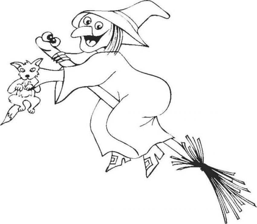 Dibujos De Brujas Para Colorear 71 Brujas De Halloween Para Pintar