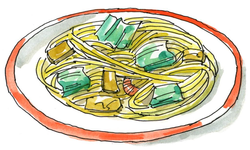 麺類の描き方