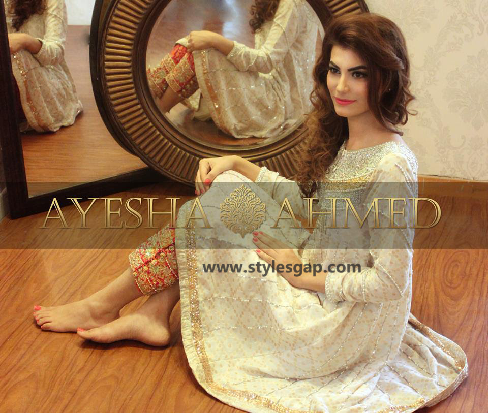 Ayesha Ahmed Formals Party Wear Dresses Designs 2018 2019 Collection 2021 By Dikhawa Online Shopping