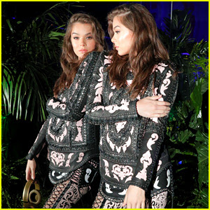Hailee Steinfeld Is Seeing Double at Balmain Party!