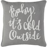 Holiday Pillow Cover - Light Gray, White - HOLI7257