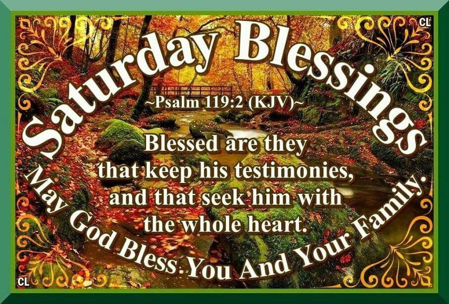 Saturday Blessings May God Bless You And Your Family Pictures