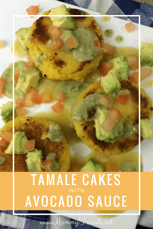 Tamale Cakes with Avocado Sauce