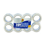 """Duck Hp260 High Performance Packaging Tape - 1.88"""" Width X 60 Yd Length - 3"""" Core - Non-yellowing - 8 / Pack - Clear (DUC0007424)"""