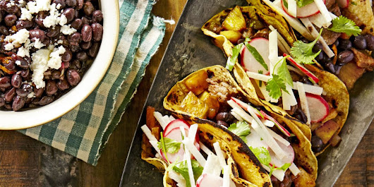 Beef-and-Pineapple Tacos with Mojo Beans
