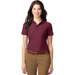Port Authority Ladies' L510 Knit Shirt Stain-Resistant Polo Small Dark Red | The Deal Rack