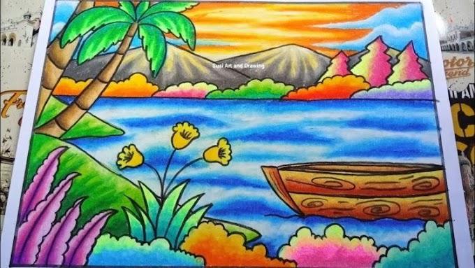 Mewarnai Pemandangan Alam Cara Menggambar Yang Bagus Dan Gampang
