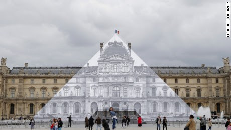Disappearing act? Artist JR hides the Louvre in plain sight