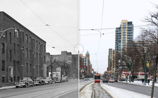 Take this then-and-now photo tour of Toronto's Spadina Avenue