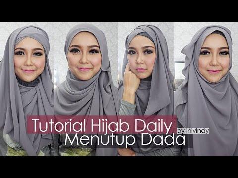 VIDEO : tutorial hijab sehari-hari hijabstyle menutup dada by inivindy - hijabstyle menutup dada kali ini menggunakan sifon yang agak tebal dan tidak transparant. tetapi jatuh dan mudah dibentuk. ...