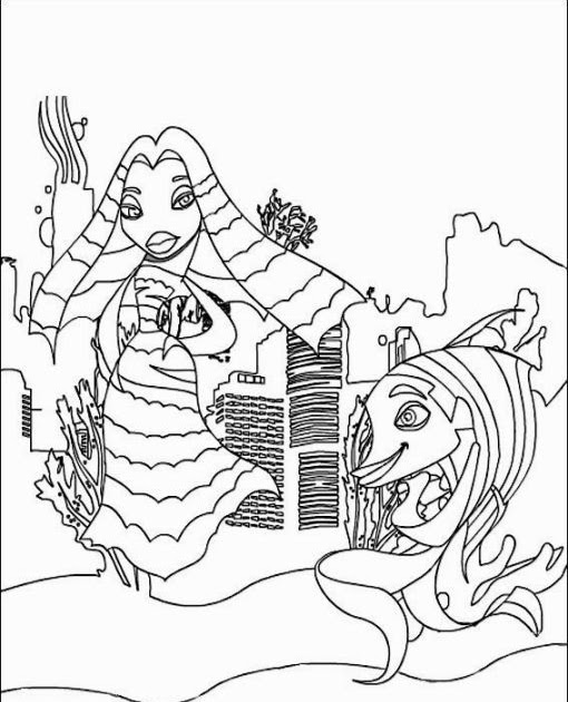 Coloring pages kids: Shark Tale Coloring Pages To Print
