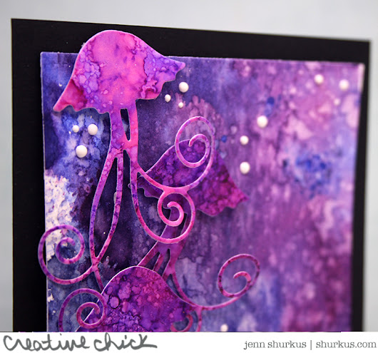 Alcohol Inked Jellyfish, Memory Box - {creative chick} | shurkus.com
