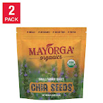 Mayorga Coffee Roasters Mayorga Organic Chia Seeds, USDA Organic, Non-GMO Verified, 3lb, 2-Pack