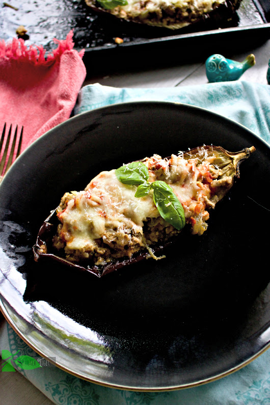 Italian Stuffed Eggplant with Ground Veal
