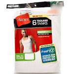 Hanes Men's Tagless ComfortSoft White A-Shirt 6-Pack
