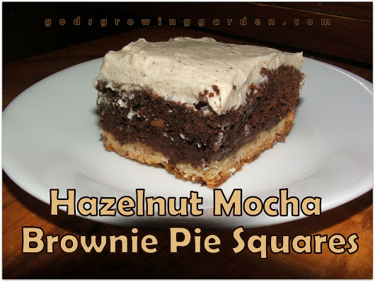 Hazelnut Mocha Brownie Pie Squares #Recipe