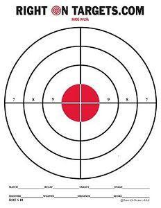 150 RED BULLSEYE Shooting Targets (3 8.5x11 PADS OF 50) NEW TARGET ...