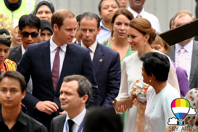 Will and Kate the Duke and Duchess of Cambridge at KLCC Park Malaysia