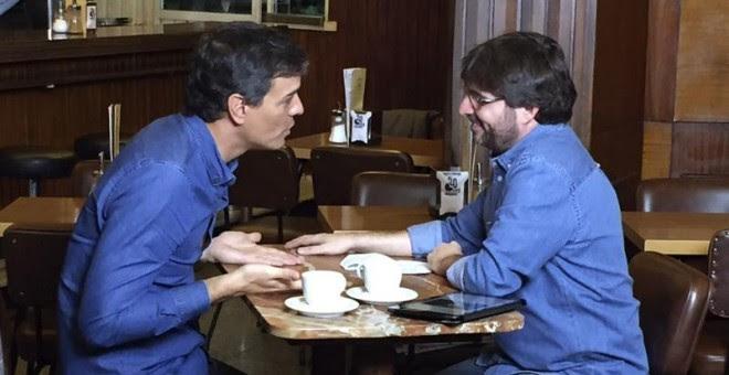 Pedro Sánchez, durante la entrevista con Jordi Évole en 'Salvados'. EFE