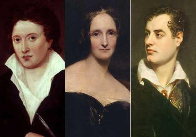 Percy Shelley, Mary Godwin, Lord Byron