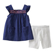 Carter's® 2-pc. Flutter-Sleeve Top and Short Set - Girls newborn-24m