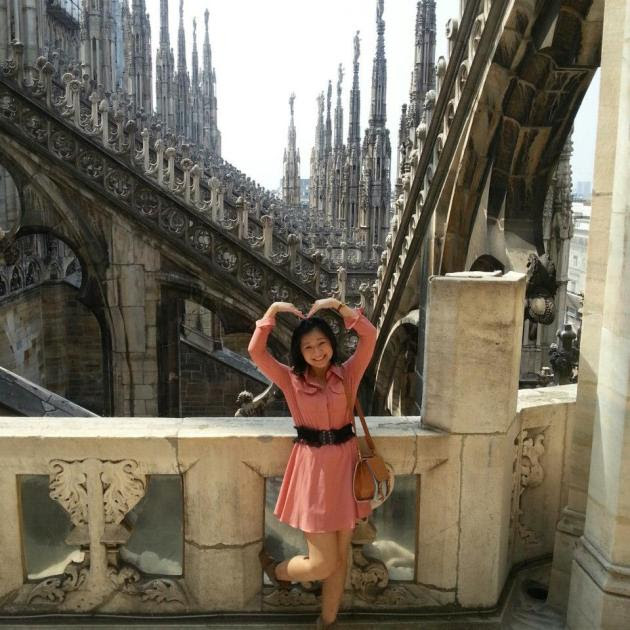 Me on top of the Duomo in Milan