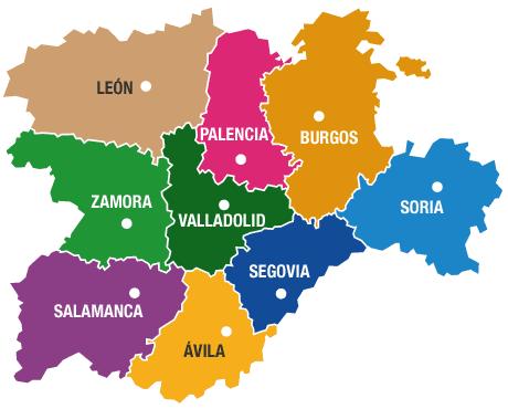 Resultado de imagen de castilla y leon mapa politico