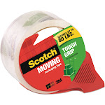 """Scotch Tough Grip Moving Packaging Tape, 1.88"""" x 54.6 yds, with Dispenser"""