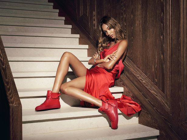 British model Jourdan Dunn appears in this new campaign for shoe brand, Buscemi.