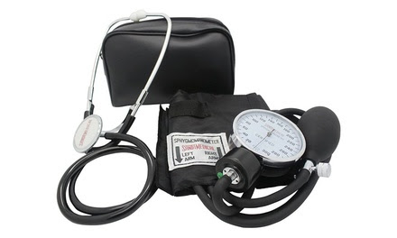 Santamedical Delux Aneroid Sphygmomanometer with Stethoscope