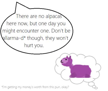 Alpaca fear
