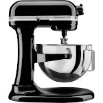 KitchenAid - KV25G0XOB Professional 500 5QT, 450 Watt Bowl Lift Stand Mixer - Onyx Black