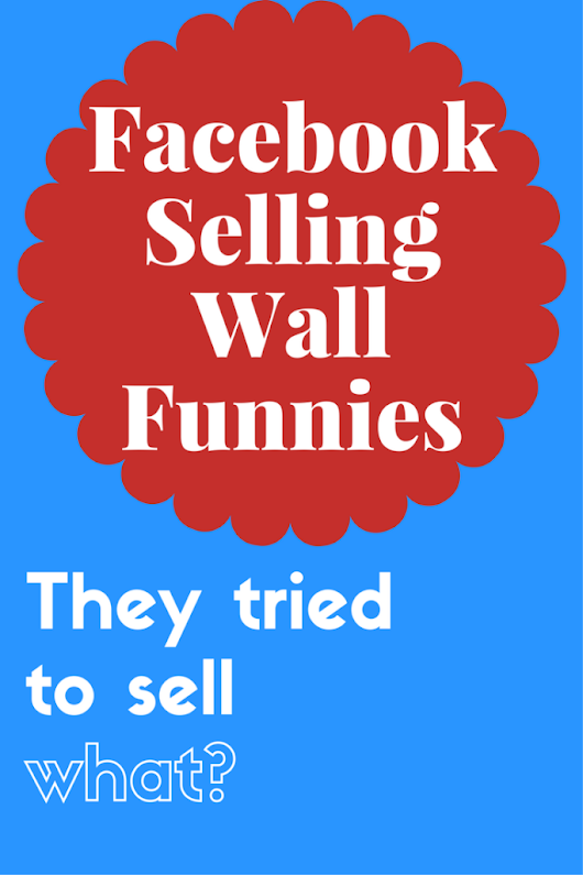 Facebook Selling Wall Funnies - Hot Mess Memoir