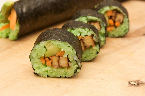 green sushi for election day