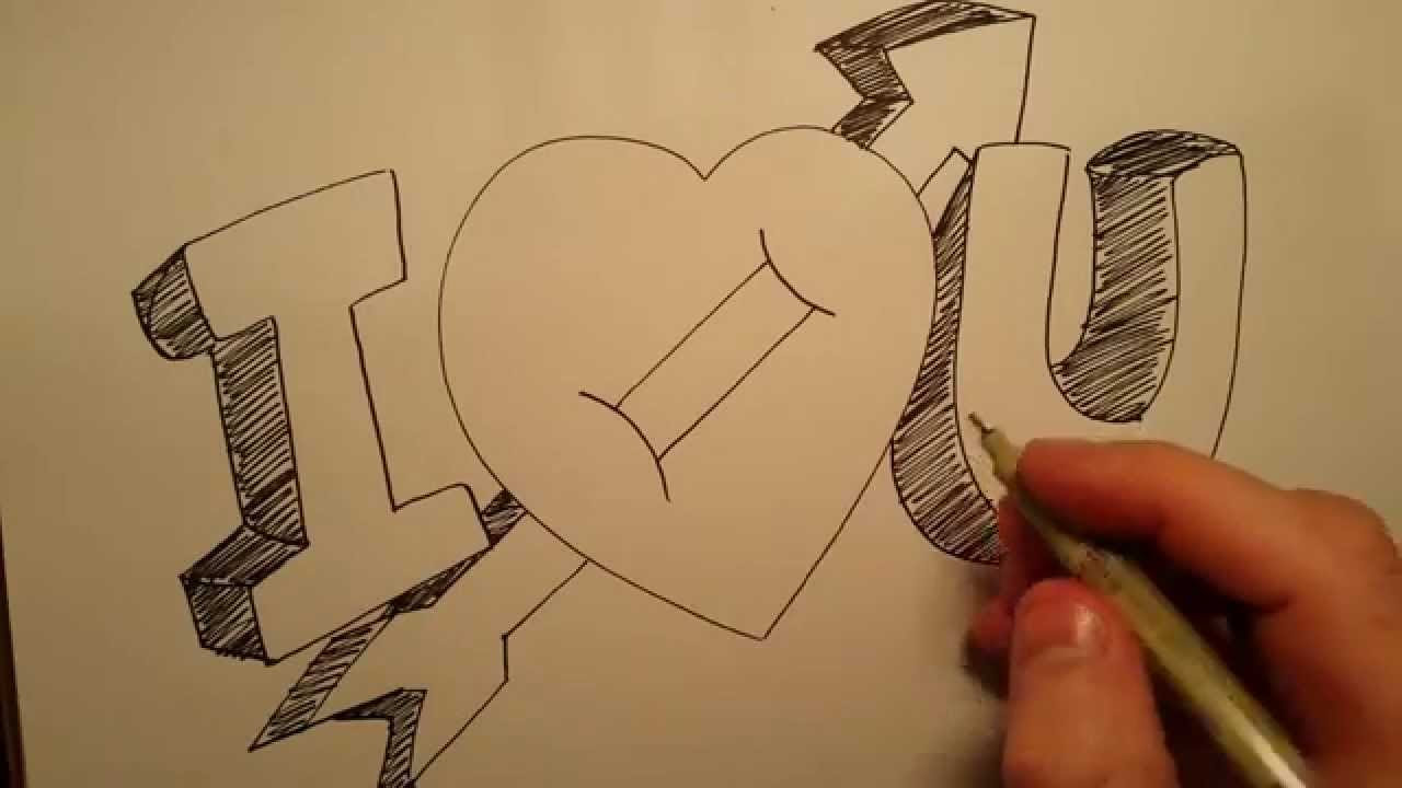 I Love U Drawing At Getdrawingscom Free For Personal Use I Love U