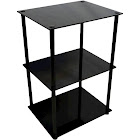 Convenience Concepts Classic Glass 3 Tier Lamp Table, Black