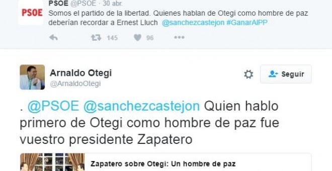 Otegi PSOE Twitter