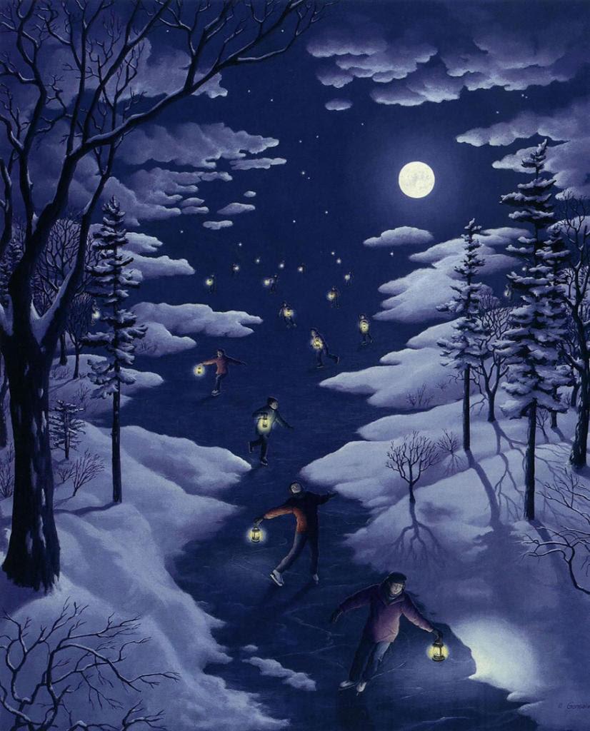 diaforetiko.gr : magic realism paintings rob gonsalves 14 880 826x1024 33 Πίνακες Ζωγραφικής με οπτικές ψευδαισθήσεις που παίζουν με το μυαλό σου.