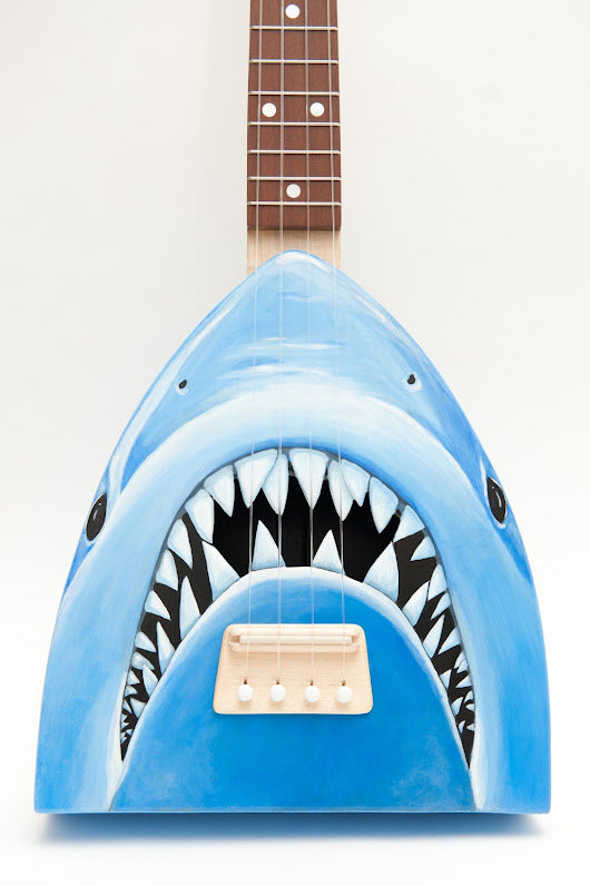 Jaws ukulele   get out of the waterlele by celentanowoodworks