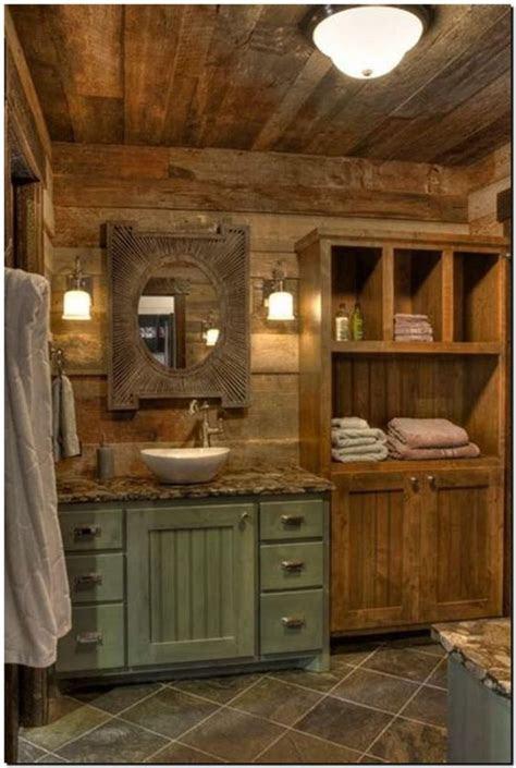 rustic bathroom ideas  magical decoration  warm